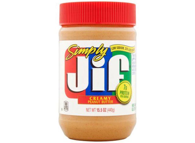 JIF simply peanut butter