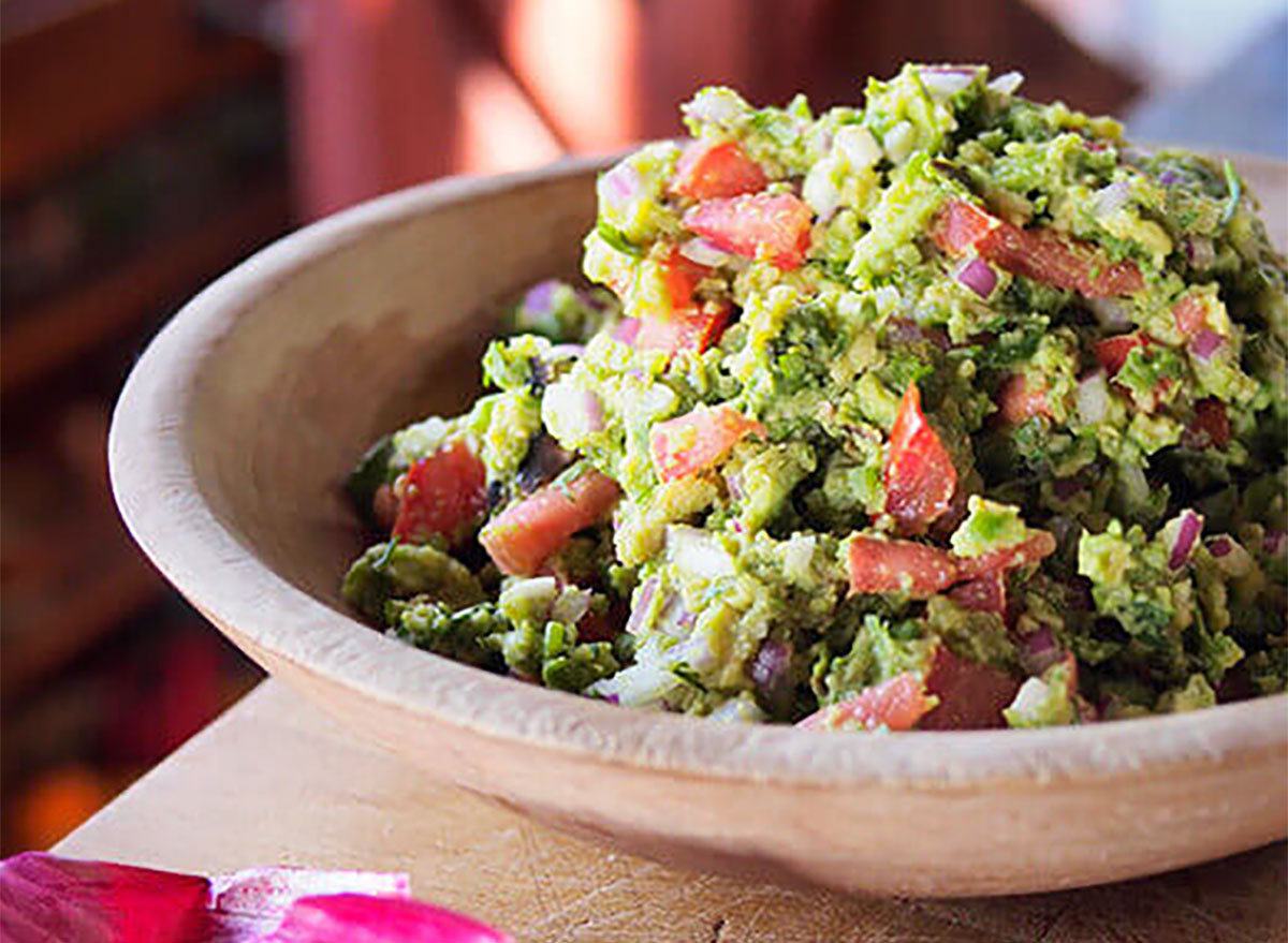 grilled guacamole in bowl