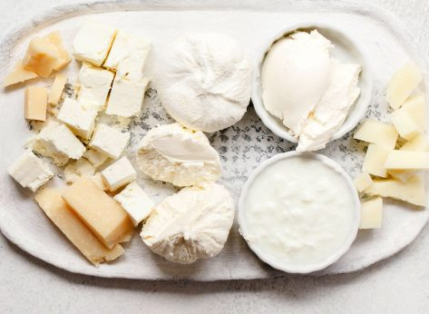 Plate of soft cheeses