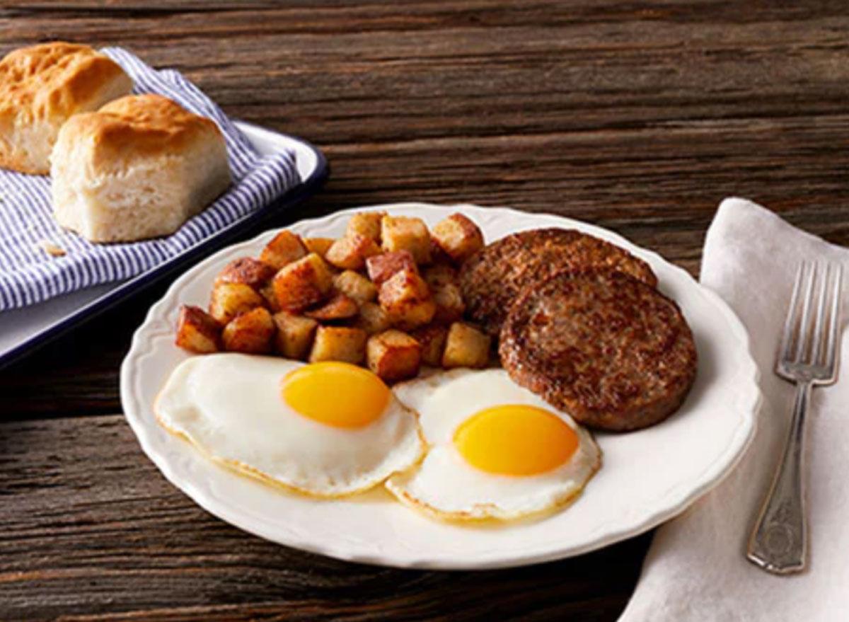 Bob evans rise and shine - healthiest restaurant order