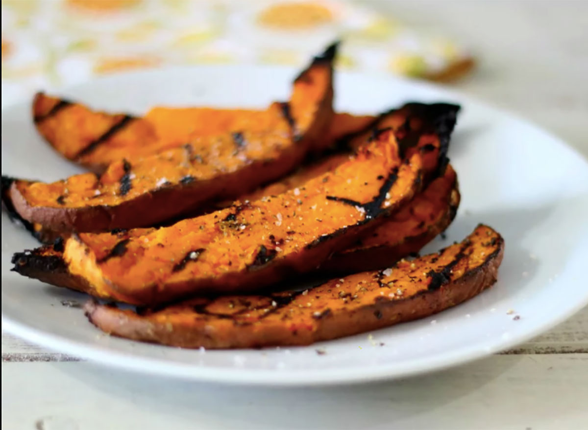 sweet potato fries on plate