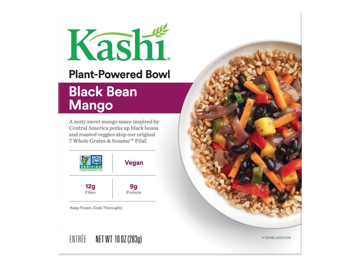 Kashi plant powered black bean mango bowl frozen dinner