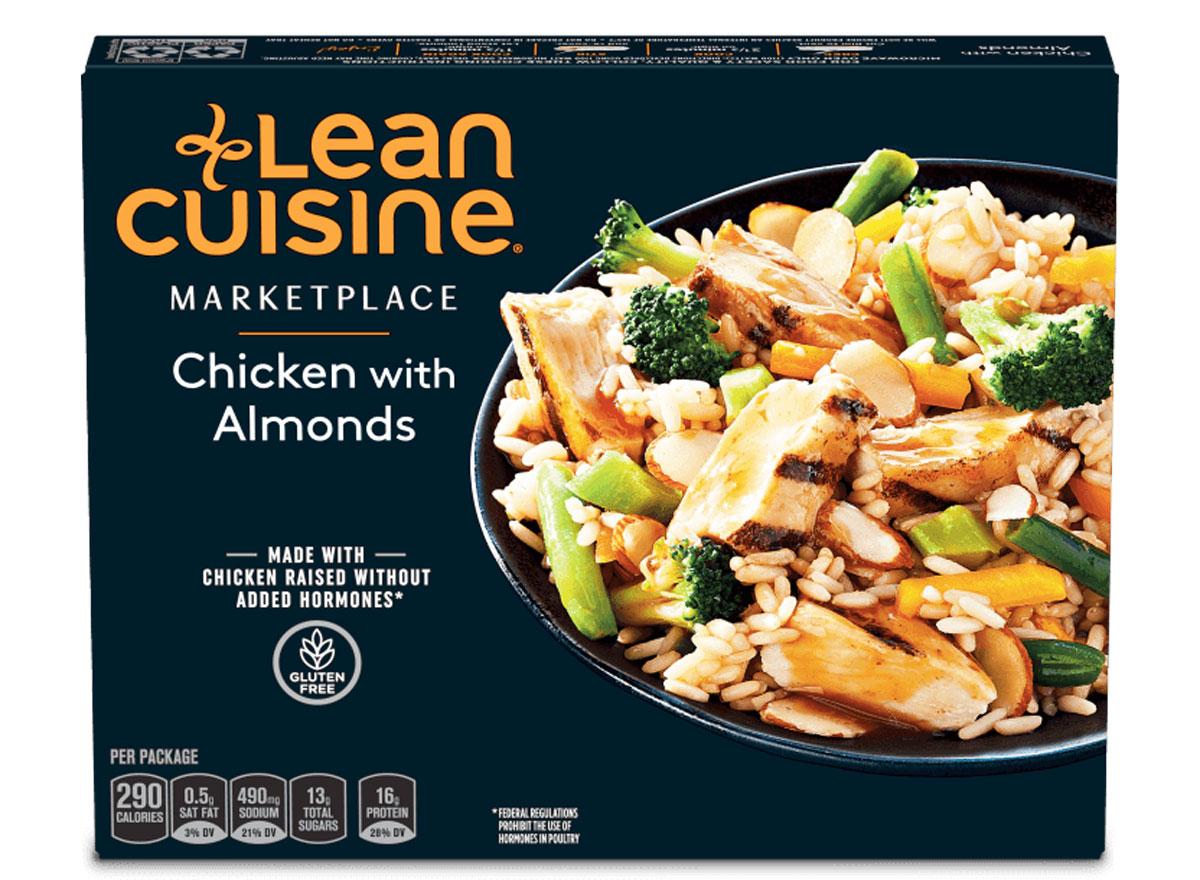 Lean cuisine chicken almonds frozen dinner
