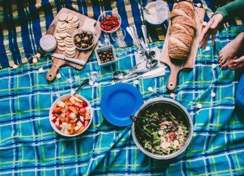 food outside at a picnic