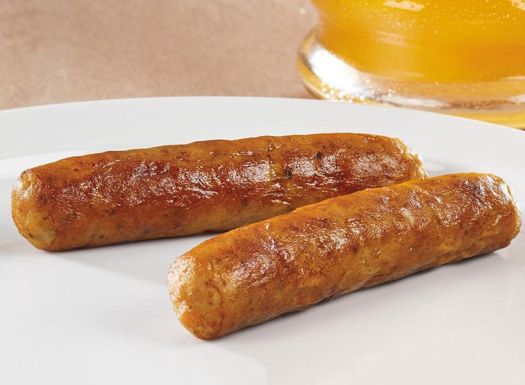 Dennys hearty breakfast sausage links