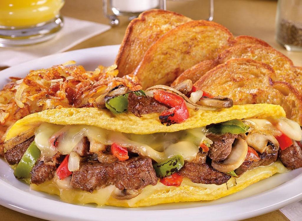 Dennys philly cheesesteak omelette