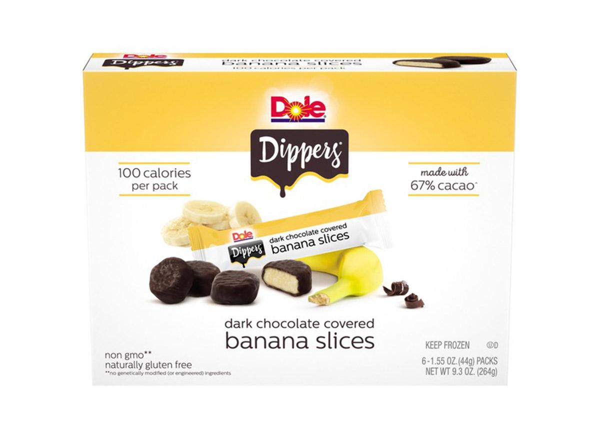 Dole Dippers dark chocolate banana slices