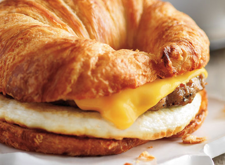 Dunkin Donuts sausage egg cheese croissant