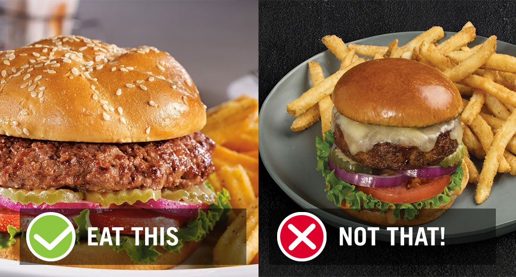 Eat this not that chain restaurant veggie burger dennys tgi fridays