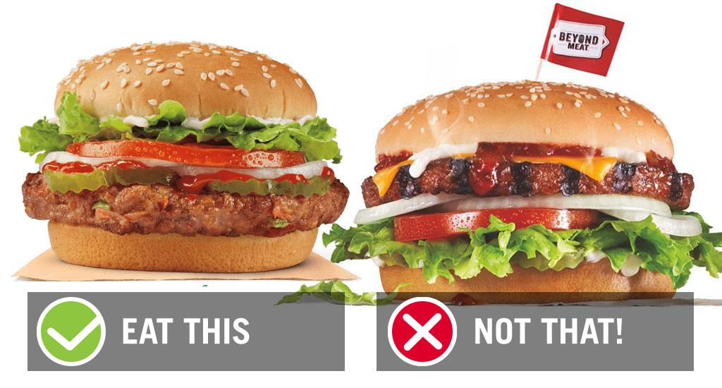 Fast food veggie burgers burger king vs carls jr