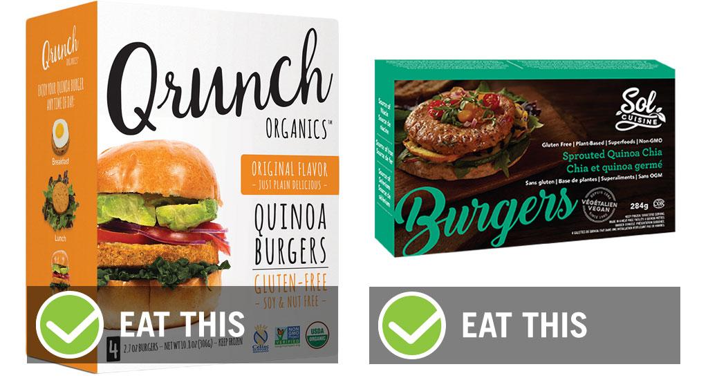 Eat this not that quinoa veggie burger