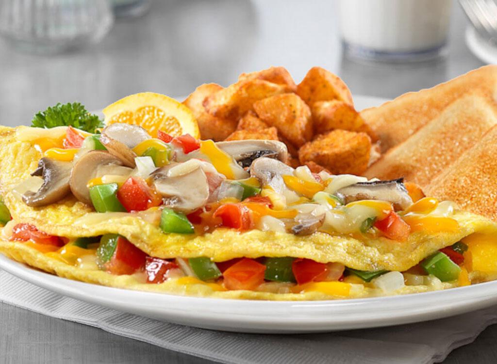 Friendly garden vegetable omelette