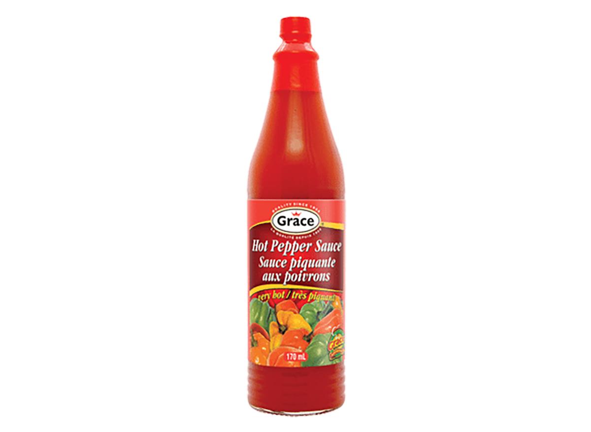 bottle of grace hot pepper sauce