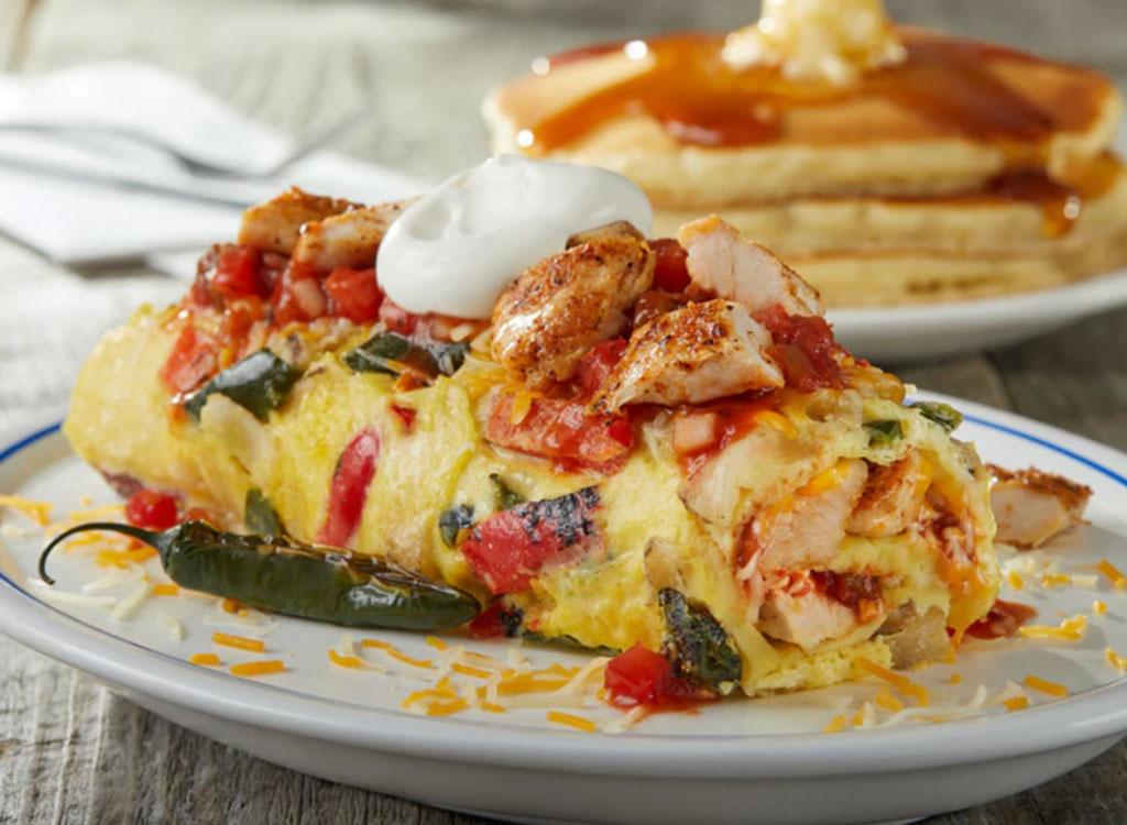 IHOP chicken fajita omelet