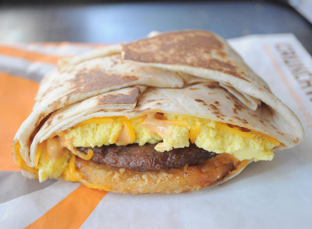 Taco bell am sausage crunchwrap