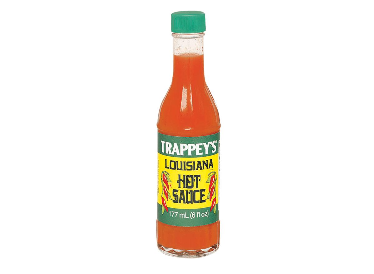 bottle of trappeys louisiana hot sauce