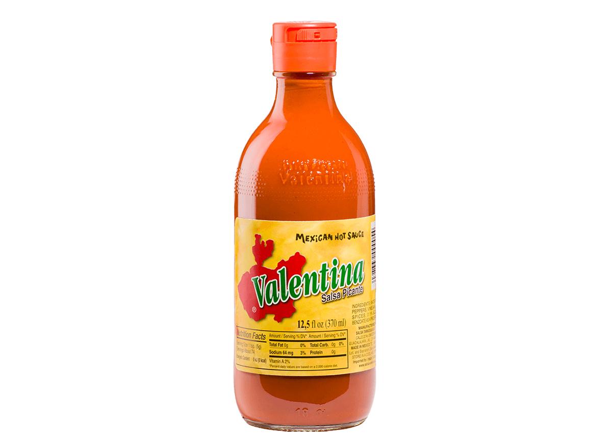 bottle of valentina hot sauce