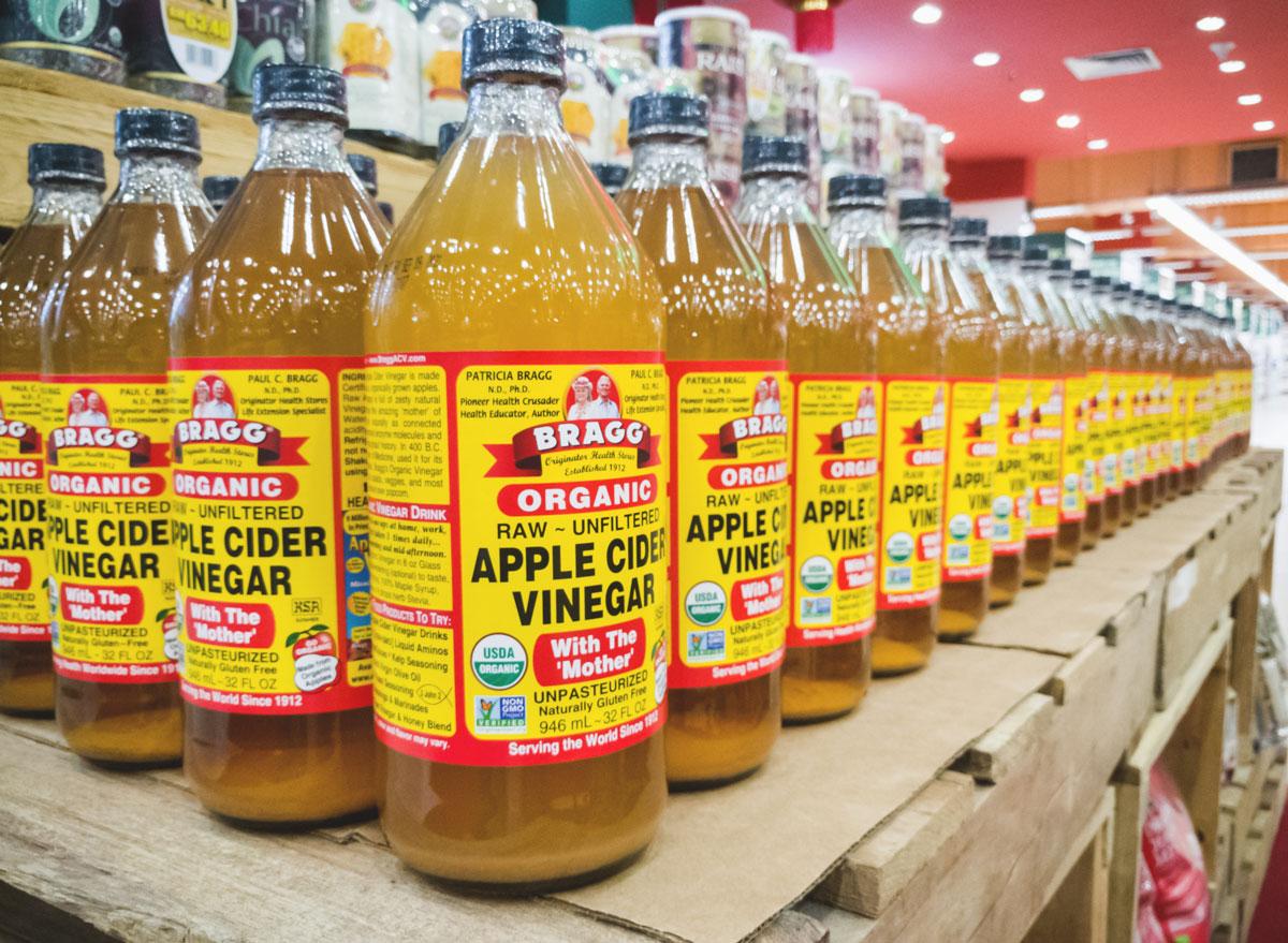 Braggs apple cider vinegar bottles
