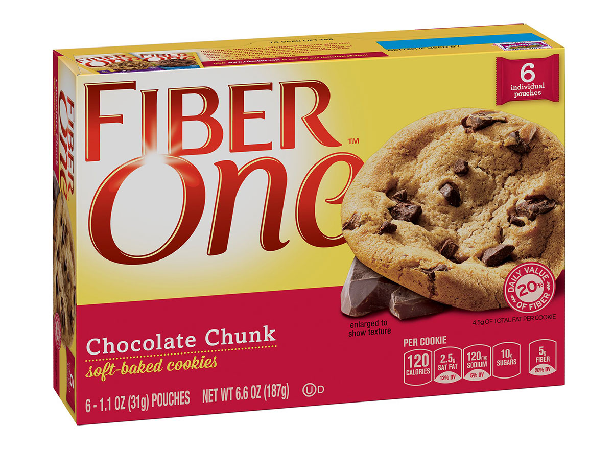 fiber one soft baked chocolate chunk cookies
