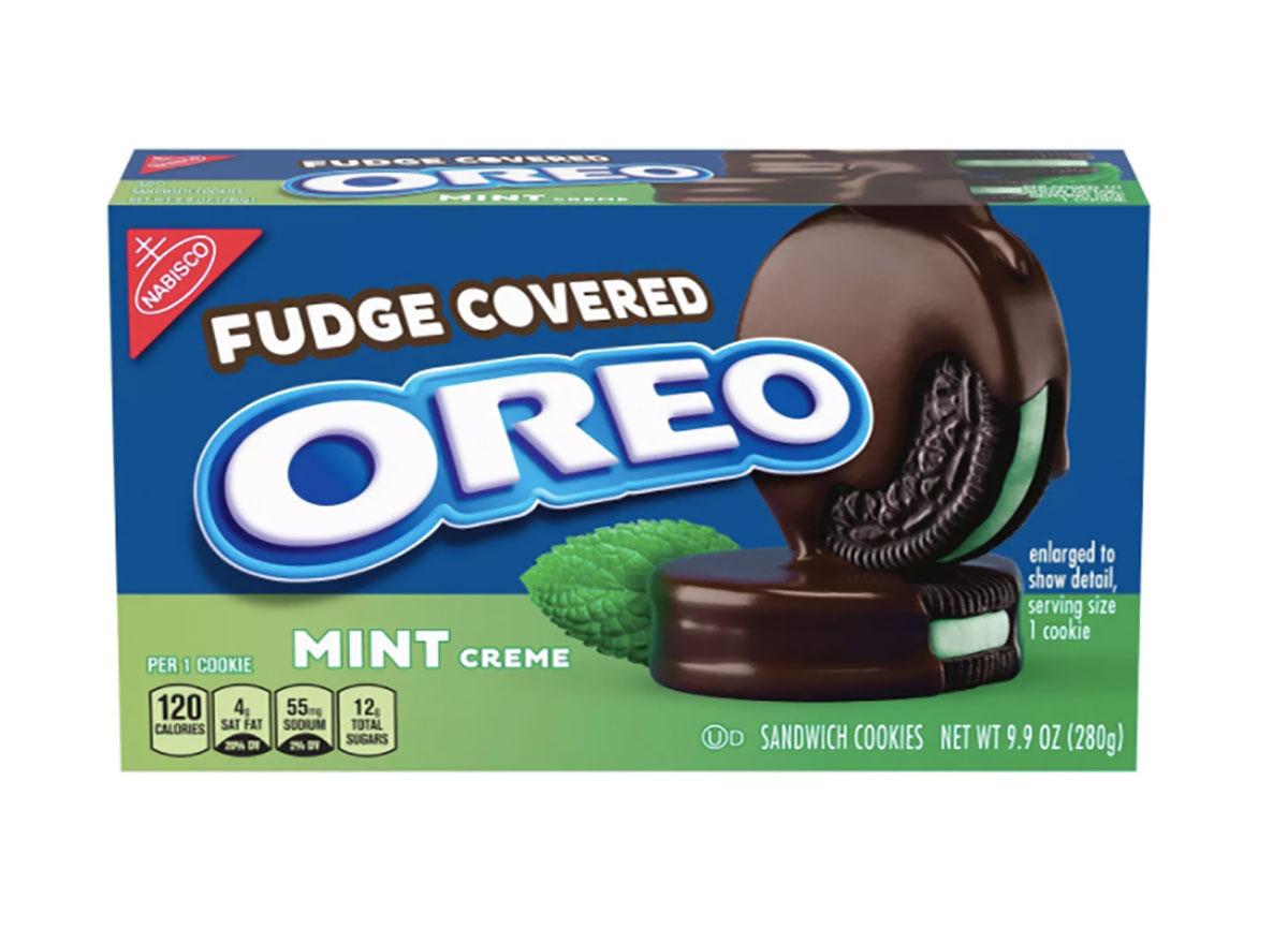 fudge covered mint oreo cookies