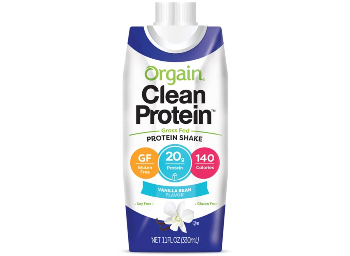 Orgain grass fed protein shake
