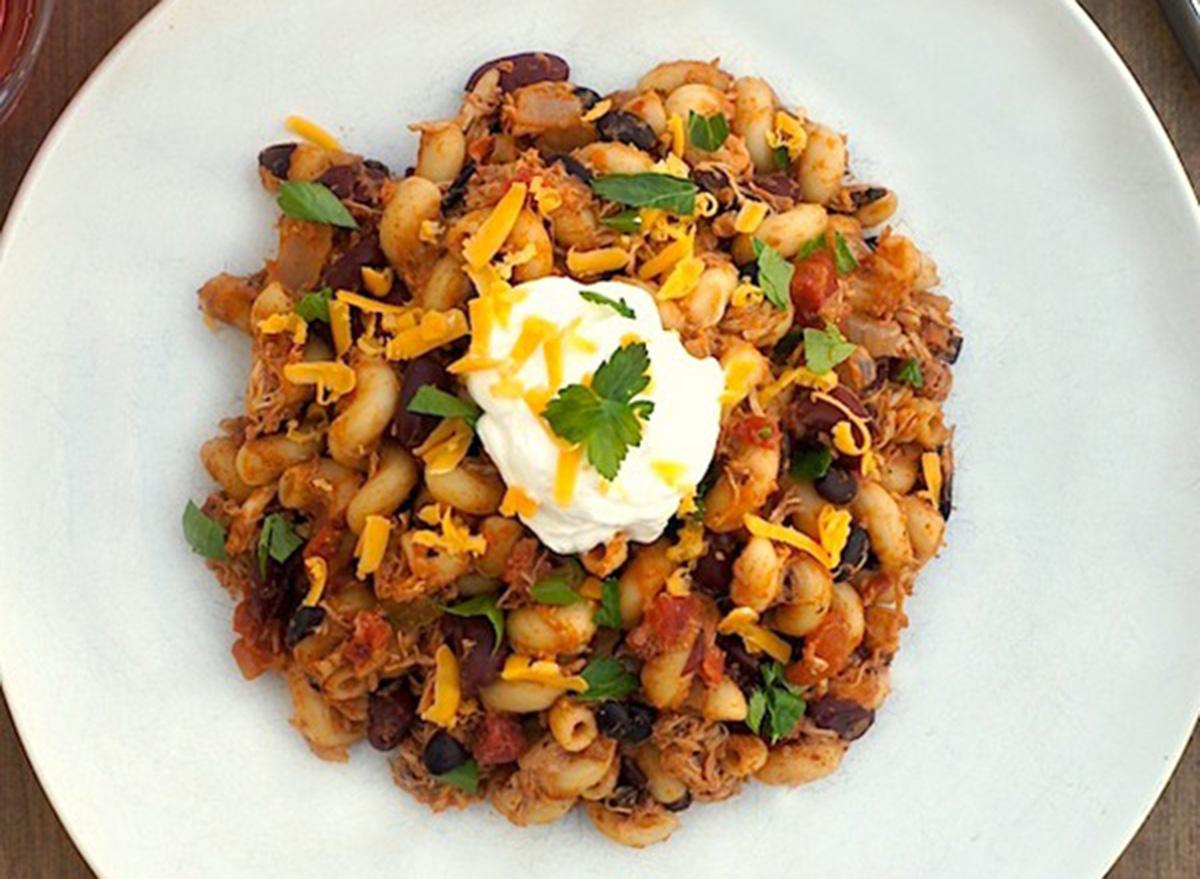 southwest skillet chicken chili