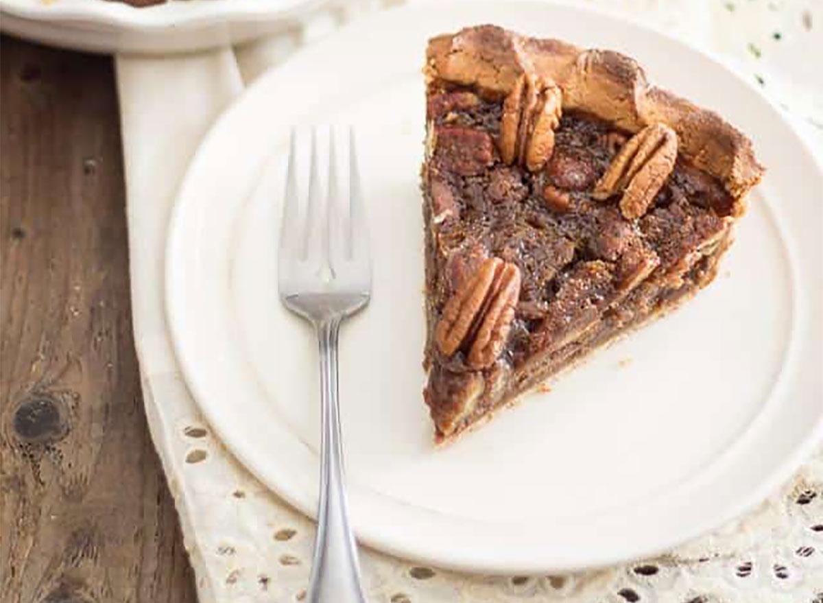 slice of paleo pecan pie