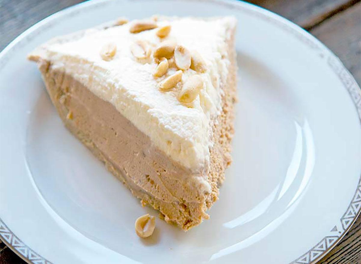 slice of peanut butter pie