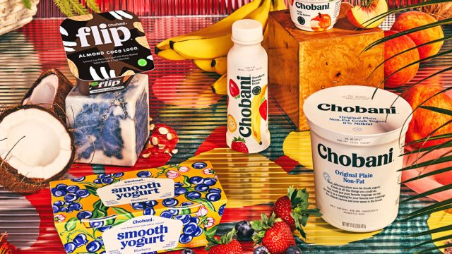 Chobani family staged new packaging