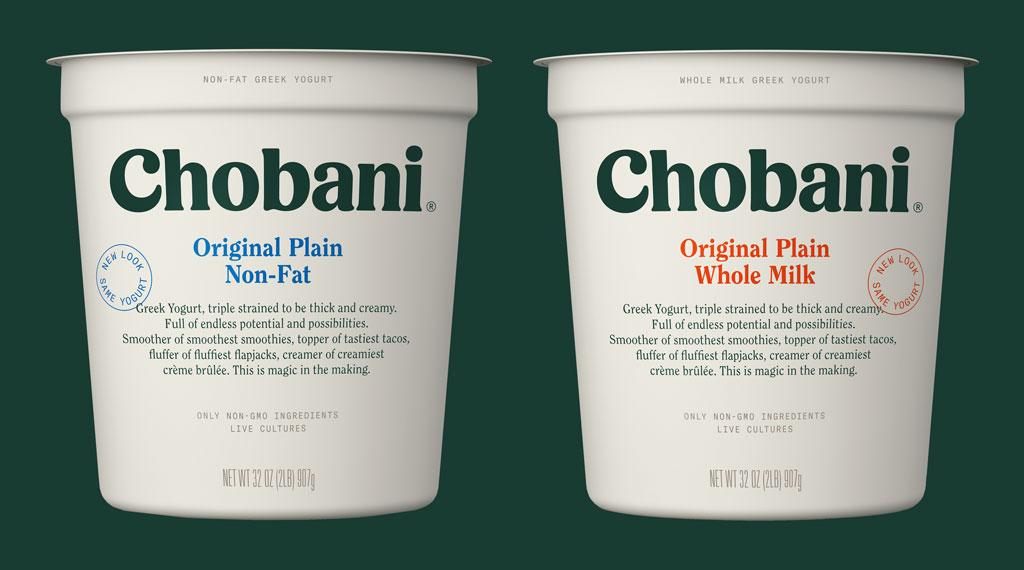 Chobani plain yogurt multiserve