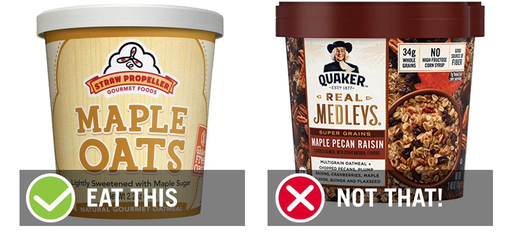 Eat this not that grab and go oatmeal cup - best instant oatmeal
