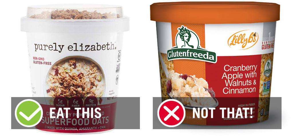 eat this not that gluten free instant oatmeal cranberry - best instant oatmeal