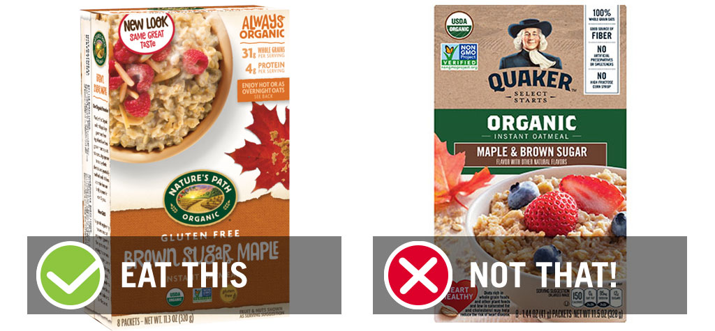 Eat this not that best organic instant oatmeal packet - best instant oatmeal