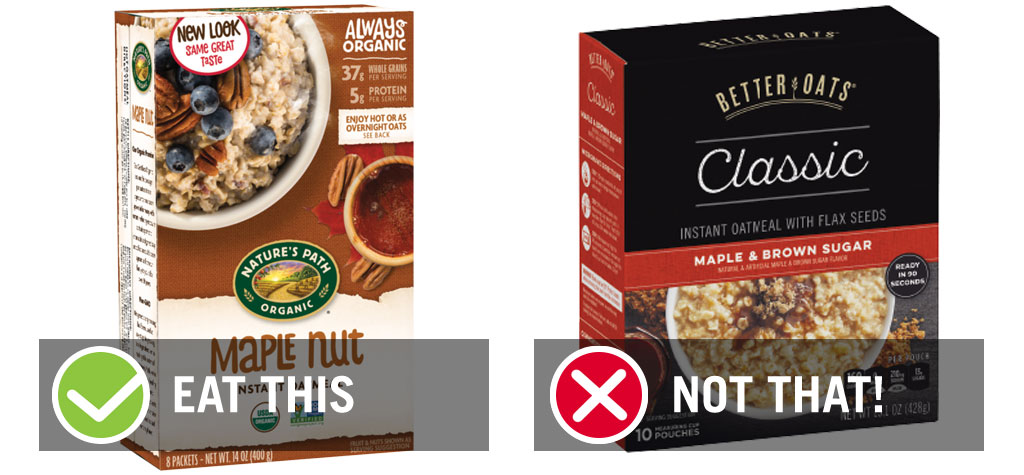eat this not that instant oatmeal maple packets - best instant oatmeal