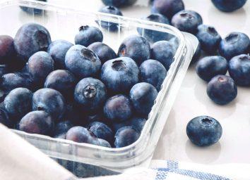 Fresh blueberries plastic pint