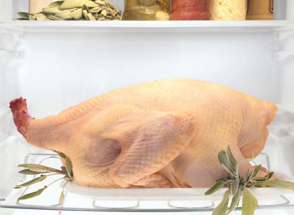 Thawing turkey in fridge