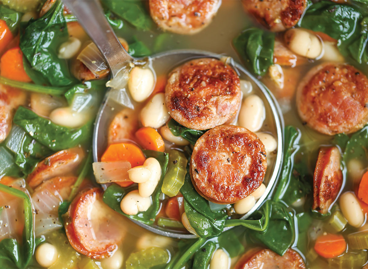 sausage and white bean soup with vegetables