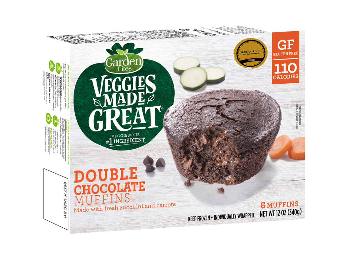 veggies made great double chocolate muffins