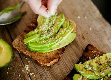 Avocado toast seeds