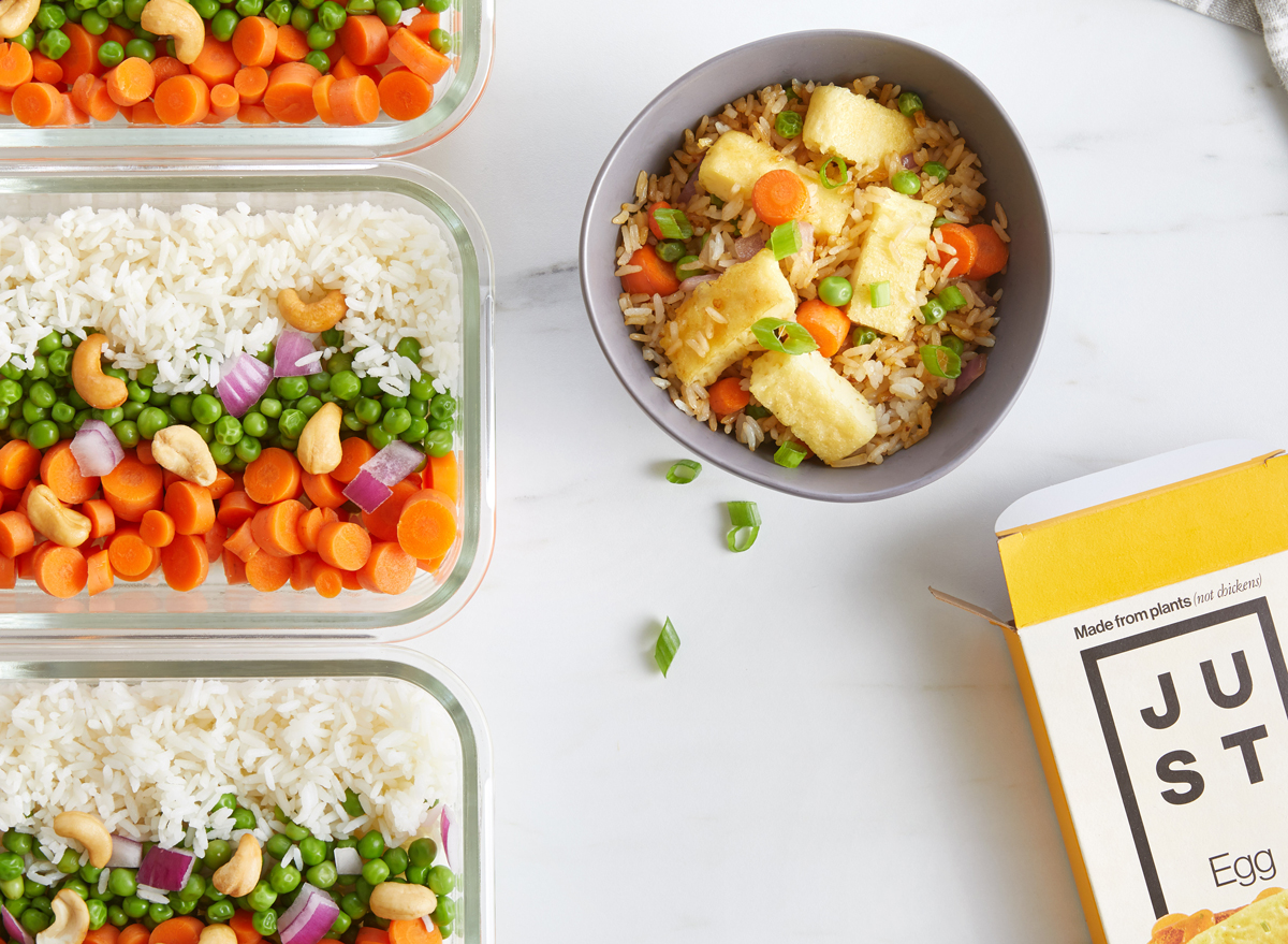 just egg meal prep fried rice bowls