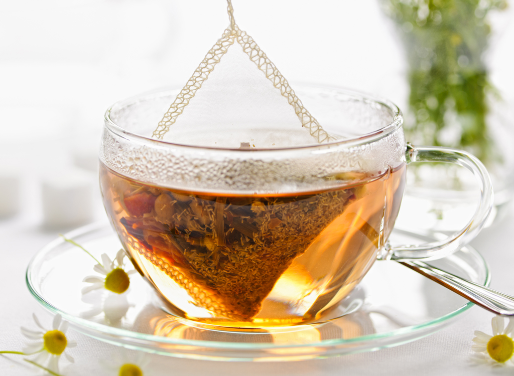 Steep tea bag - how to lose weight overnight