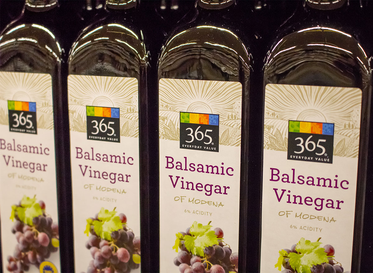 bottles of whole foods 365 organic vinegar