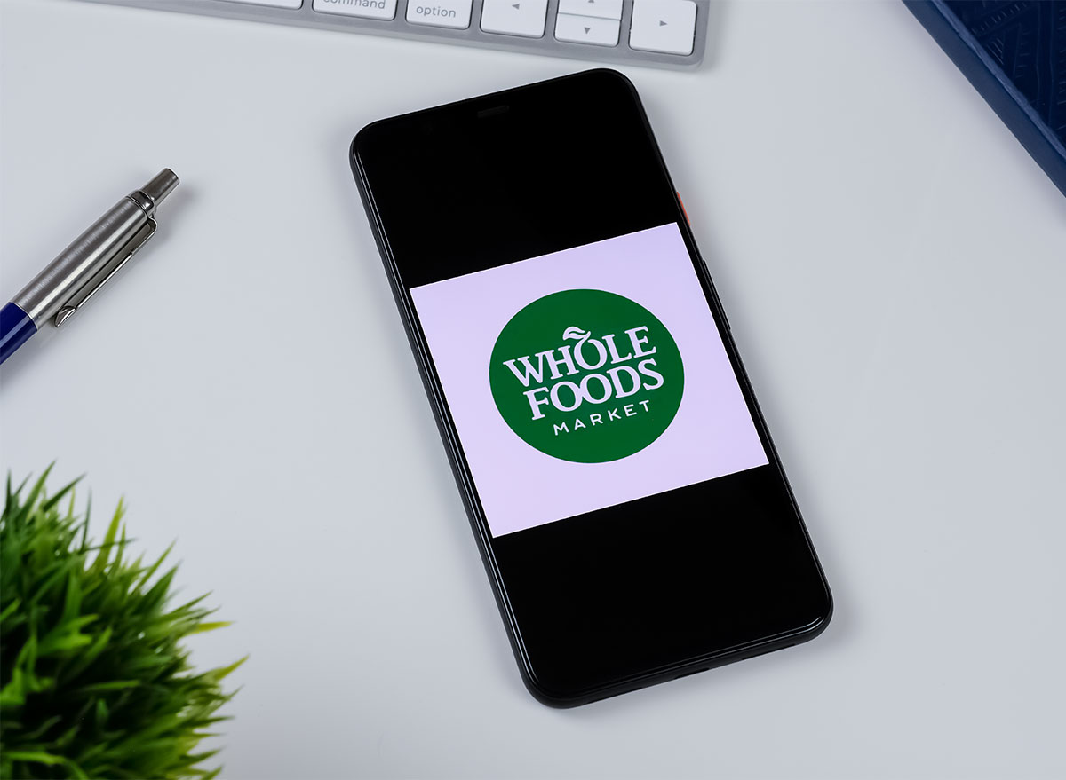 whole foods app on phone