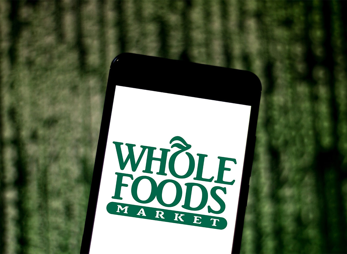 whole foods logo on smartphone