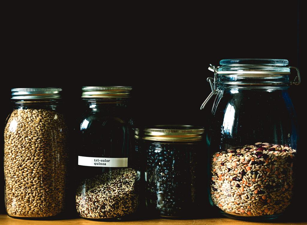 Pantry staples beans grains