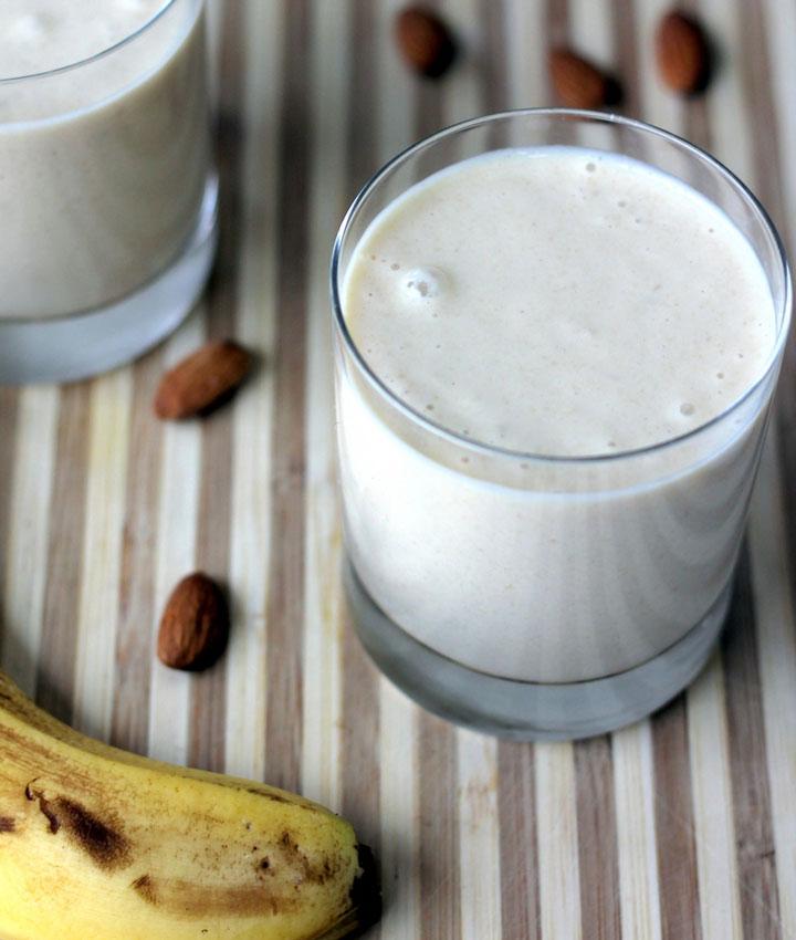 Vegan almond butter smoothie