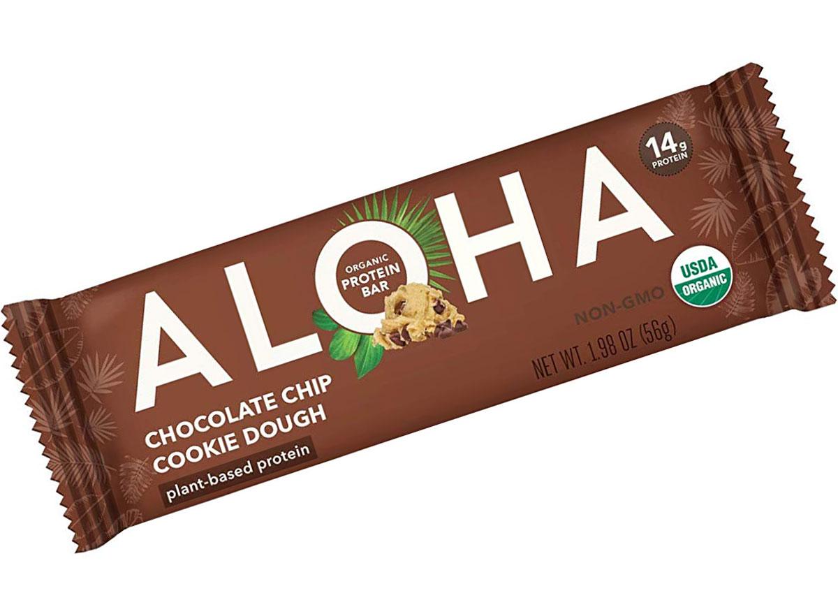Aloha chocolate chip cookie dough protein bar