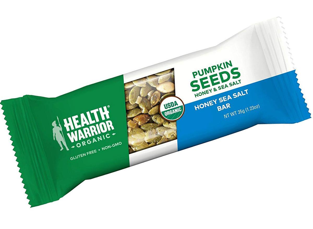 Health warrior pumpkin seed honey sea salt protein bar