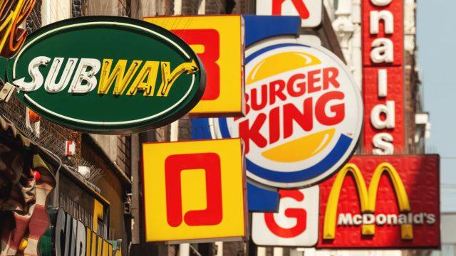 Fast food restaurant signs