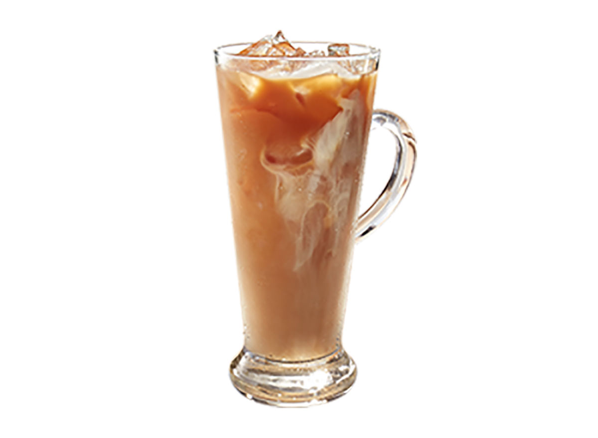 iced milk tea in glass
